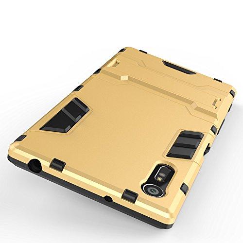 SRY-Funda simple 2 en 1 caja fría a prueba de golpes del teléfono de la contraportada para Sony Xperia XZ Conveniente y practico ( Color : Gray ) Gold