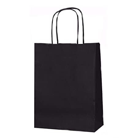 25 x 18 x 8 Size Dark Blue Paper Carrier Bags with Twisted Paper Handles