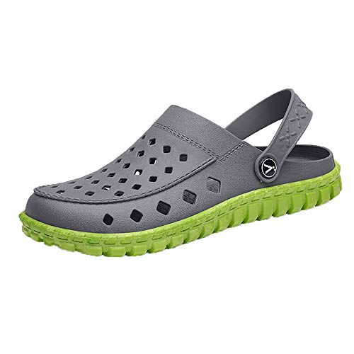 Men's and Women's Classic Clog, Comfort Slip On Casual Water Shoe Gray