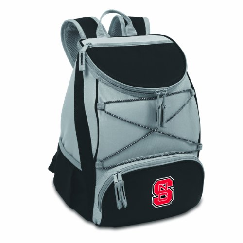 (NCAA North Carolina State Wolfpack PTX Insulated Backpack Cooler, Black)