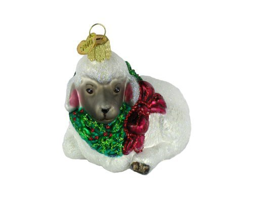 Old World Christmas Little Lamb Glass Blown Ornament