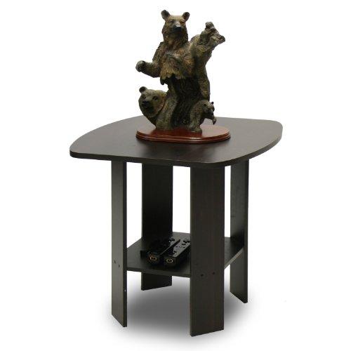 Furinno 11180EX Simple Design End/SideTable, Espresso (Corner Living Room Table)