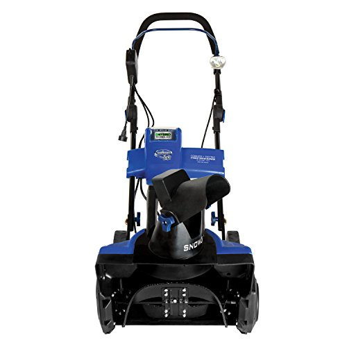 Snow Joe iON18SB-HYB Hybrid Single Stage Snow Blower | 18-Inch | 40 Volt | 13.5 Amp | Brushless (Best Single Stage Snow Blower)