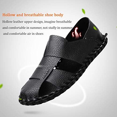 YCKZZR Sandalen voor heren, platte schoenen, persoonlijkheid, mannen, non-slip, bruin, 40