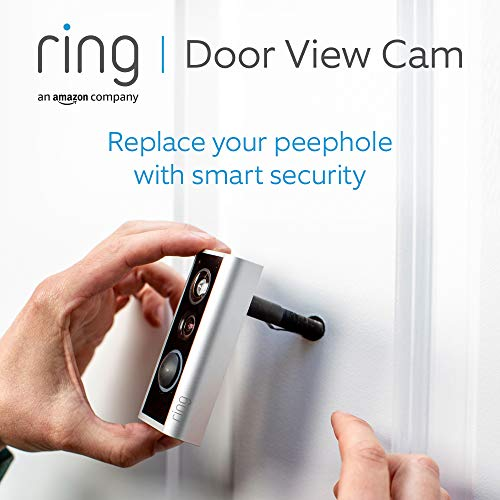 Ring Door View Cam by Amazon | Video doorbell that replaces your peephole with 1080p HD video and Two-Way Talk. For…