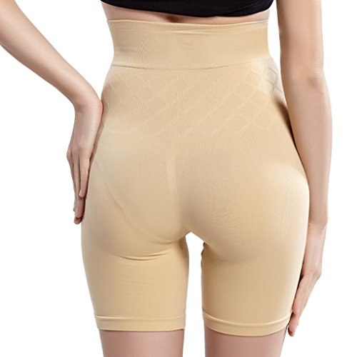 Vogue of Eden Women's Higher Power Mid-Thigh Boxer Postpartum Recovery Briefs Nude