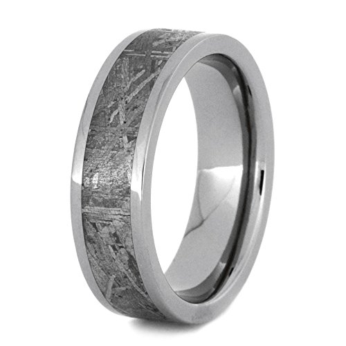 Gibeon Meteorite Inlay 6mm Comfort-Fit Titanium Band and Sizing Ring, Size, 6.5 by The Men's Jewelry Store (Unisex Jewelry)