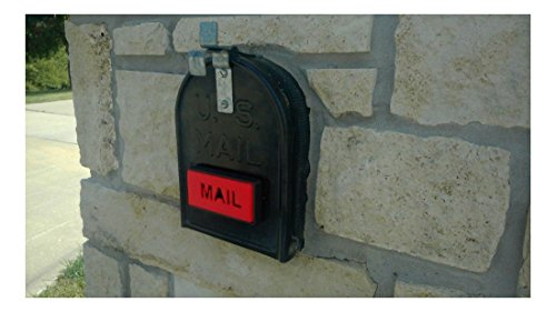 (Mailbox Flag, Front Mount, Great on Brick/Stone Mailbox, Stylish Replacement)