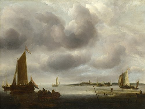 Signature Scuba Headlamp (Oil Painting 'Jan Van De Cappelle A Coast Scene', 30 x 40 inch / 76 x 101 cm , on High Definition HD canvas prints is for Gifts And Bath Room, Game Room And Home Theater Decoration, pop)