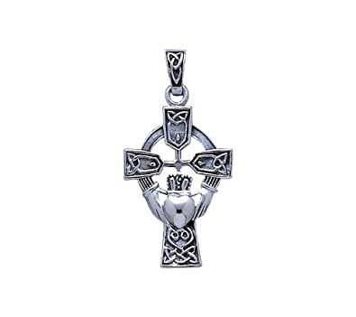 Enlightened Expressions Silver Rhodium Plated Celtic Cross And Irish