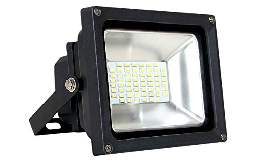 "Cheap ASD LED Floodlight 8"" Cord 30W SMD Outdoor Landscape Security Waterproof UL Listed 4000K (Bright White)"