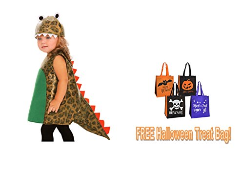 CHILD'S Toddler 3T-4T HALLOWEEN COSTUME DINOSAUR Girl Boy + FREE TREAT BAG!!