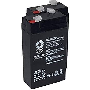 SPS Brand 6V 3.2 Ah Replacement Battery for Panasonic LCR6V2.4P 2 Pack