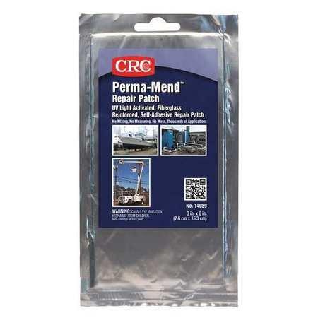 CRC 14089 Perma-Mend Grey UV Curable Repair Patch, 3'' x 6''