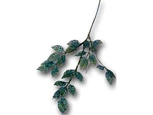 Blue Pacific Spray - Sierra Pacific Crafts SPC Spray Leaves Glittered Green/Blue