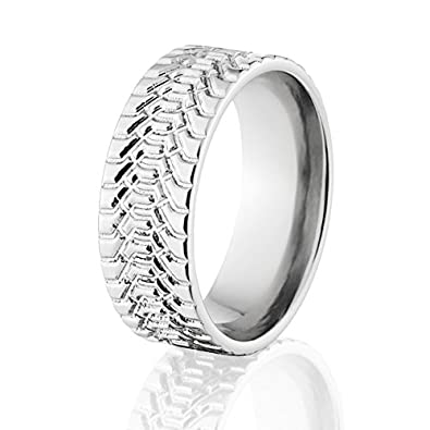 tire ring titanium tire tread ring mud tire rings tire wedding rings for men usa made - Mud Tire Wedding Rings