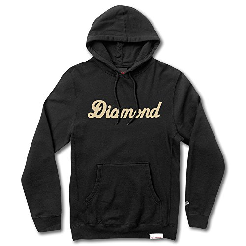 Diamond Supply Co City Script Pullover Hoodie Black by Diamond Supply Co