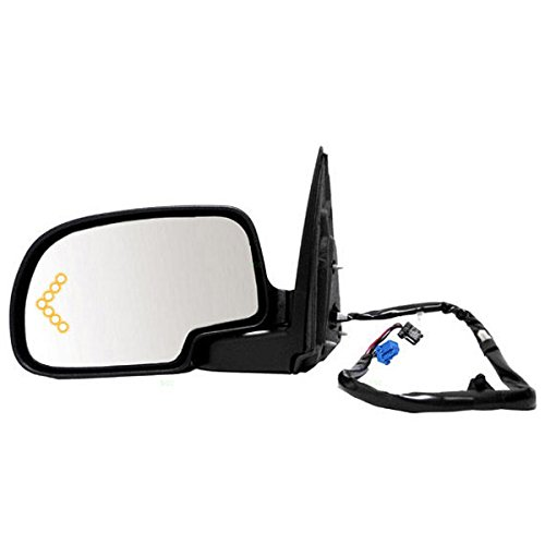 Power Fold Heated Dimmer Turn Signal Mirror Left Driver Side ()