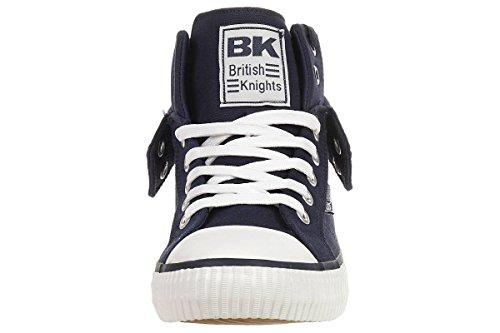 British Knights Roco - Zapatillas deportivas de caña alta para hombre Azul marino