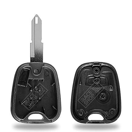 Caja para mando a distancia carcasa para llave de Peugeot 206 + Switch + pila CR2016 Duracell