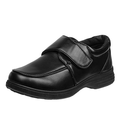 'Josmo Boys Comfort School Uniform Shoes (Toddler/Little Kid/Big Kid) (9 M US Toddler, Black-Strap)'