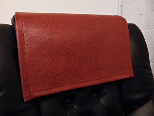 luvfabrics Vinyl, Ford Red 14x30 Sofa Loveseat Chaise Theater Seat, RV Cover, Chair Caps Headrest Pad, Recliner Head Cover, Furniture Protector