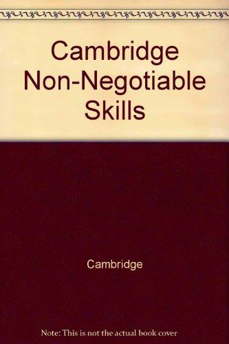 Cambridge Non-Negotiable Skills