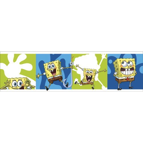 Nickelodeon SpongeBob SquarePants Self Stick Wall Border by Blue Mountain Wallcoverings