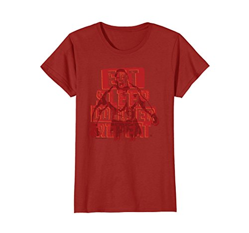 Womens WWE Brock Lesnar Eat Sleep Conquer Repeat Red Small Cranberry