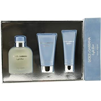 Dolce and Gabbana Light Blue for Men-3 Pc Gift Set 4.2-Ounce EDT Spray, 2.5-Ounce After Shave Balm, 1.6-Ounce Shower Gel Dolce & Gabbana M-GS-1775