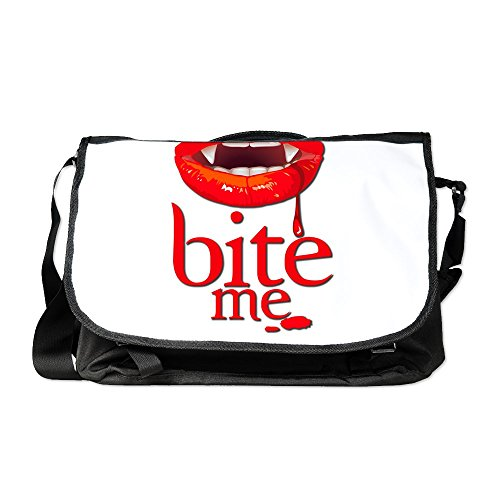 Royal Lion Laptop Notebook Messenger Bag Vampire Fangs Bite Me