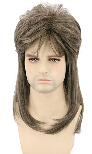 Topcosplay Mens Womens Retro 70s 80s Wigs Mullet