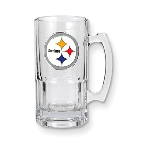 NFL Steelers 1-liter Glass Macho Tankard 1l Macho Beer Mug