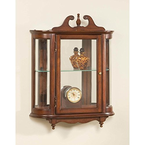 Butler specality company BUTLER 1927024 MELINDA PLANTATION CHERRY WALL CURIO Curved Glass Wall