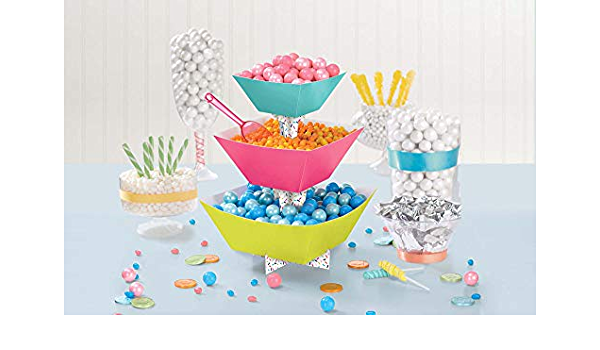 Baskets For Party Supplies Toys Details about  /Aboofx 3 Pieces Large Halloween Candy Bowls