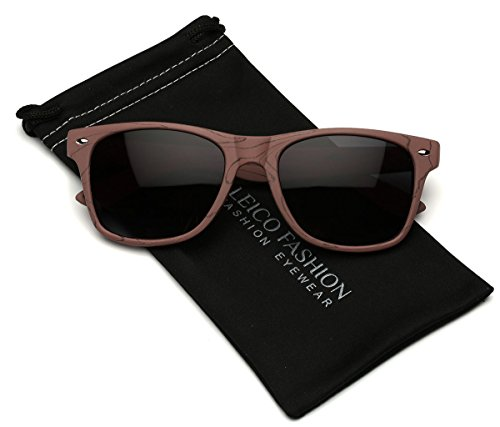 Wood Print Women's Fashion Sunglasses Classic Horn Rimmed Frame