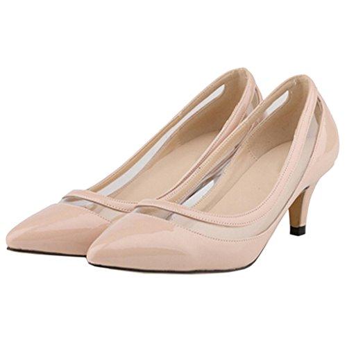 EKS - Zapatos de tacón fino Mujer - Nackt-Lackleder