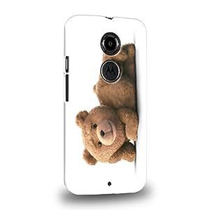 Case88 Premium Designs 2015 Ted Teddy Bear 0922 Carcasa/Funda dura para el Motorola Moto X (2nd Gen.)