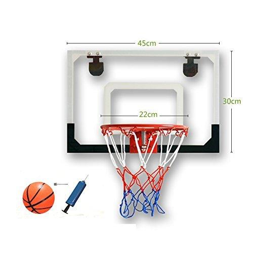 Zinnor Mini Basketball Hoop Shatterproof Backboard Indoor Shooting Goal System Over The Door Ball Portable Sports Set Tool