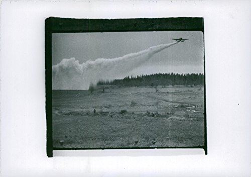 Vintage photo of Air Force photos of early airplanes in the air flying past