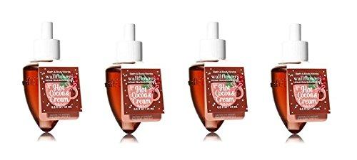 Bath & Body Works Hot Cocoa & Cream Wallflower Refill Bulbs - Lot of 4 by Bath & Body Works