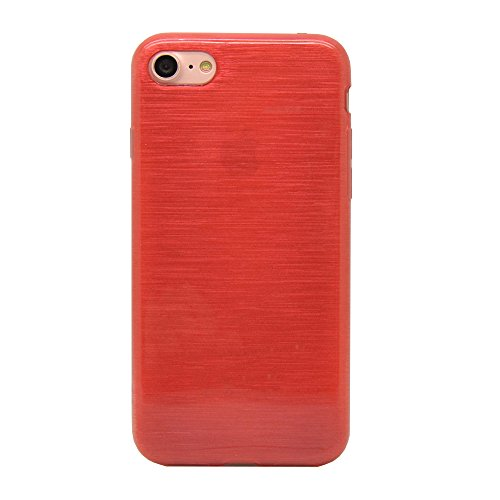 iProtect Apple iPhone 7, iPhone 8 Hülle Soft Case TPU Schutzhülle Brushed Edition Rot