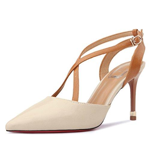High SHOESHAOGE EU35 De Eu36 Zapatos High Sandalias Mujer Heel Calidad Heel Pqrqw56B