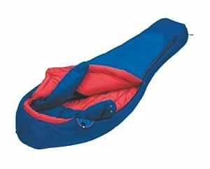 Alexika 9205.0405L Glacier - Saco de dormir (cremallera en el lado izquierdo, 80 x 220 x 55 cm), color azul y rojo