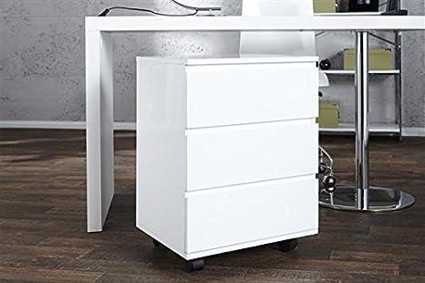 Cassettiera bianca design laccata 3 cassetti anni \'70 lounge bianco ...