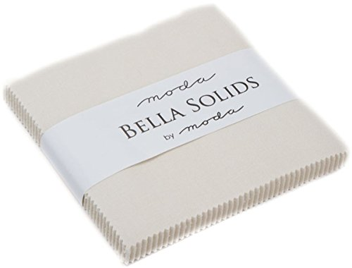 Eggshell White Moda Bella Solids Charm Pack by Moda Fabrics; 42-5