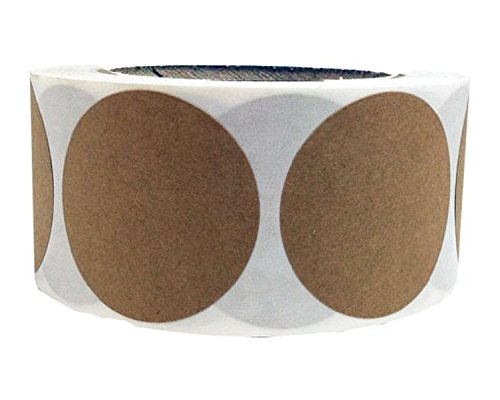 Smart Sticker 500 Brown Natural Kraft Paper Dot Stickers 2 Inch Round Circle Color Coding Labels