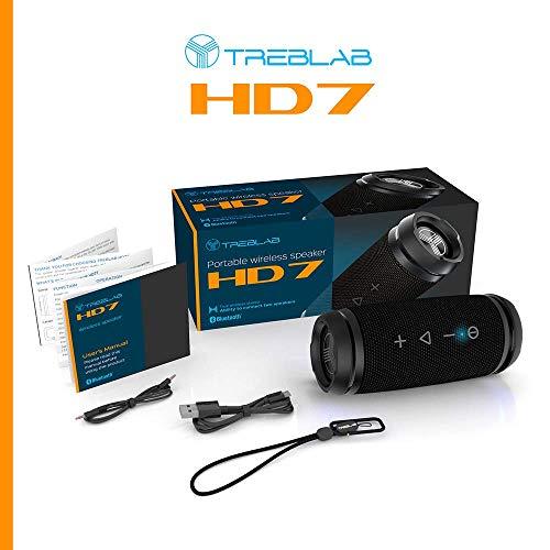 TREBLAB HD7 - Mini Portable Bluetooth Speaker Wireless - 12W Stereo, 360°HD Sound w/Bass, TWS Dual Pairing, w/Mic… 2