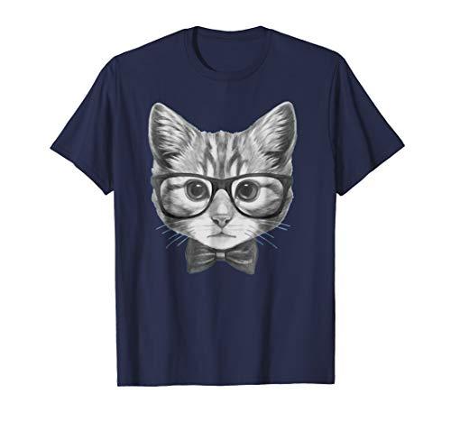 Cat Kitten Spectacles Eye Glasses Funny Cute T-Shirt