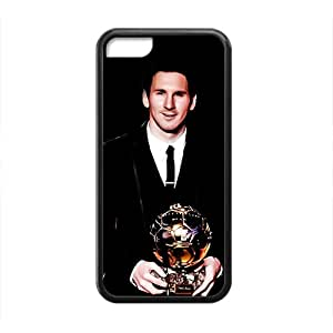 SANLSI Soccer Celebrity Lionel Messi Black Phone Case for Iphone 5c